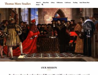 thomasmorestudies.org screenshot