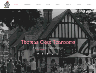 thomasokentearooms.co.uk screenshot