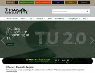 thomasu.edu screenshot