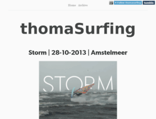 thomasurfing.nl screenshot