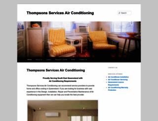 thompsonairconditioning.com.au screenshot