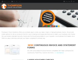 thompsonchecksolutions.com screenshot