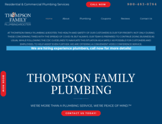 thompsonfamilyplumbing.com screenshot
