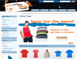 thompsonshirtsolutions.com screenshot