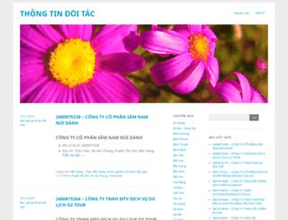 thongtindoitac.wordpress.com screenshot