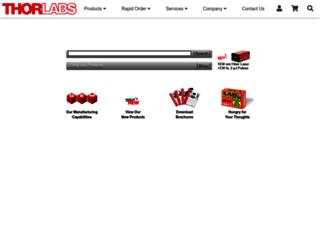 thorlabs.us screenshot