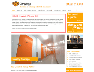thornburyselfstorage.co.uk screenshot