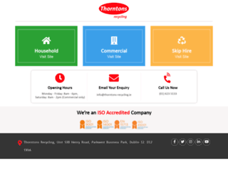 thorntons-recycling.ie screenshot
