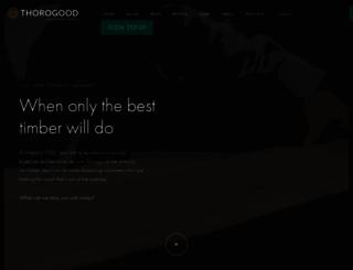 thorogood.co.uk screenshot