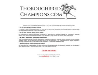 thoroughbredchampions.com screenshot
