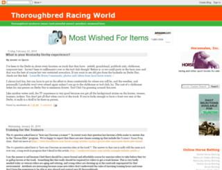 thoroughbredracingworld.com screenshot