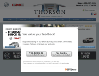 thorsonmotorcenter.com screenshot