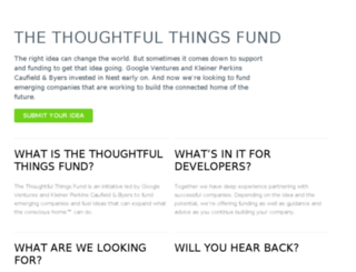 thoughtfulthingsfund.com screenshot