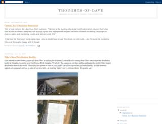 thoughts-of-dave.blogspot.com screenshot