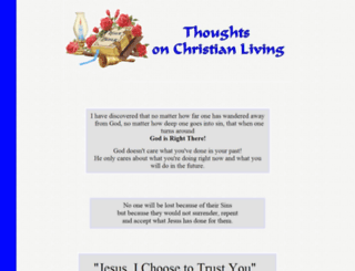 thoughtsonchristianliving.org screenshot