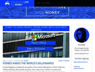thoughtsonlifeandmoney.com screenshot