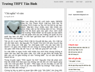 thpttanbinh.vnweblogs.com screenshot