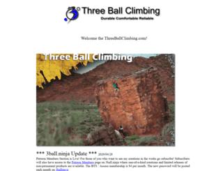 threeballclimbing.com screenshot
