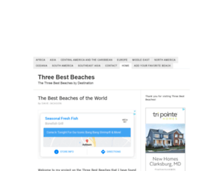 threebestbeaches.com screenshot