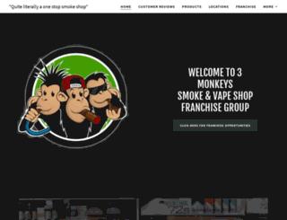 threemonkeysmokes.com screenshot