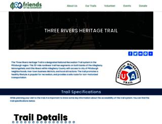 threeriversheritagetrail.org screenshot
