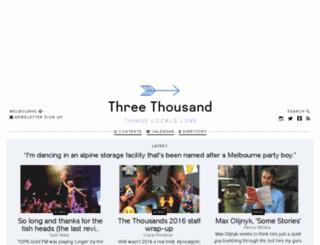 threethousand.com.au screenshot