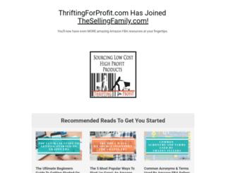 thriftingforprofit.com screenshot