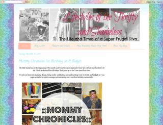 thriftyandshameless.blogspot.com screenshot