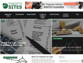 thriftysites.com screenshot