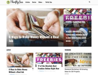 thriftysue.com screenshot