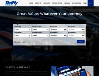 thriftyuae.com screenshot