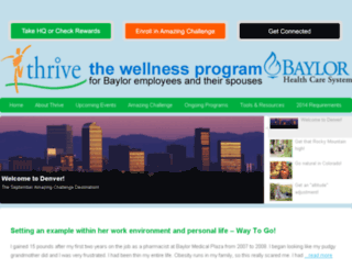 thrive.baylorhealth.edu screenshot