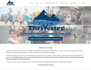 thrivestry.simplero.com screenshot
