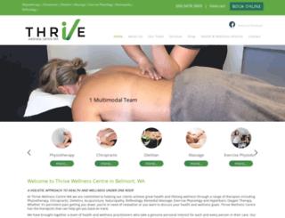 thrivewellnesscentre.com.au screenshot