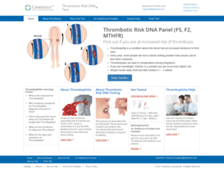 thrombosisdna.com screenshot