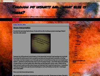throughmyinsanityandwhatelseisthere.blogspot.com screenshot