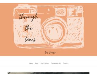 throughthelanes.com screenshot