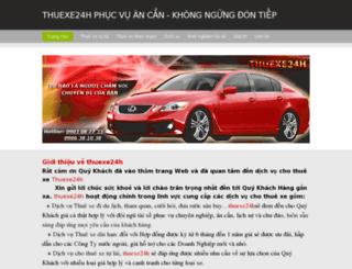 thuexe24h.weebly.com screenshot