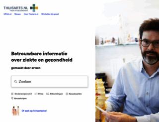 thuisarts.nl screenshot