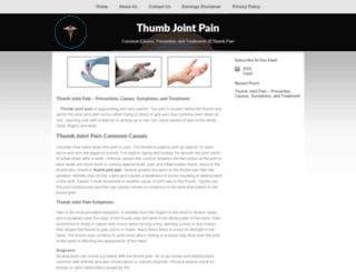 thumbjointpain.net screenshot