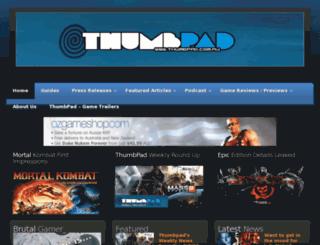 thumbpad.com.au screenshot