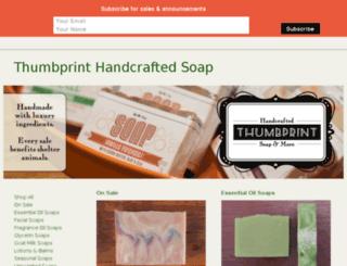 thumbprintsoap.storenvy.com screenshot