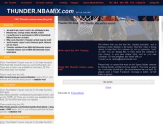 thunder.nbamix.com screenshot