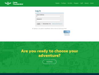 thunderbird.campintouch.com screenshot
