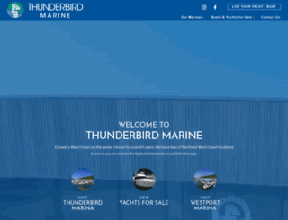 thunderbirdmarine.com screenshot