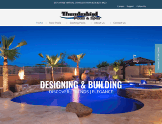 thunderbirdpools.com screenshot
