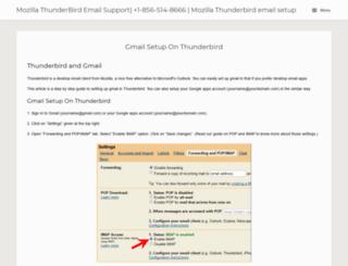 thunderbirdsupport.com screenshot