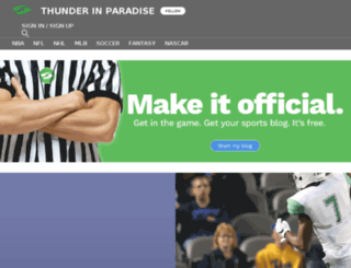 thunderinparadise.sportsblog.com screenshot
