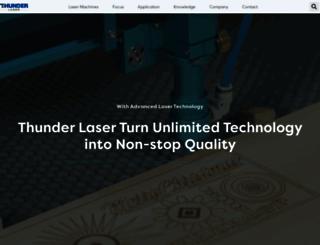 thunderlaser.com screenshot