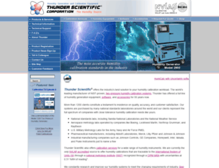 thunderscientific.com screenshot